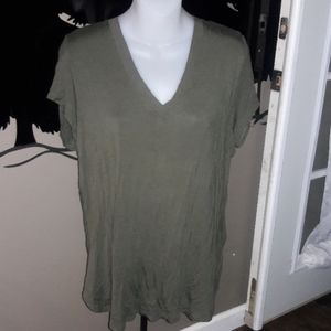 Womens sz XL Mossimo olive green top